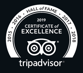 Certificate of Excellence 2019 Winner TripAdvisor Bugsy's Bar